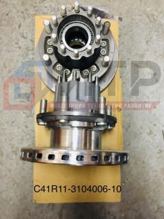 Ступица и тормозной диск заднего колеса с подшипниками C41R11-3104006-10