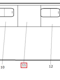 Стекло закаленное для ТС (бронзовое 5мм с ШТП) 320412-05-110-001-5403020-01 (1191*1031)