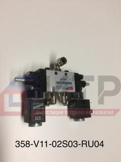 Клапан механизма открывания дверей (Camozzi) 24V 358-V11-02S03-RU04