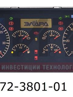 Комбинация приборов ПАЗ (Газовый)  (12V) 72-3801-01